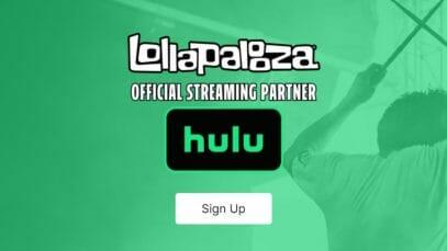Lollapalooza 2021 Livestream on Hulu