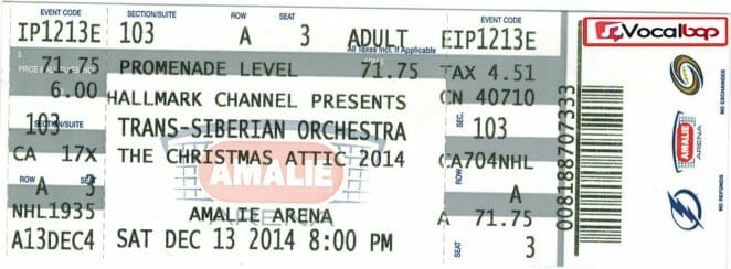 Trans-Siberian Orchestra Tour tickets 2021